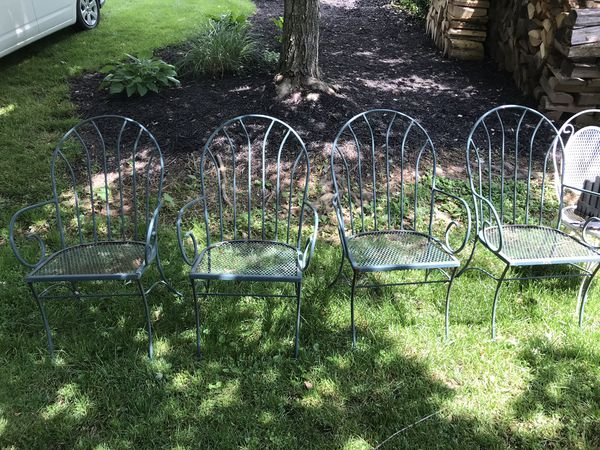 Wrought Iron Set of Outdoor Patio Chairs