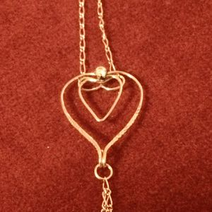 14k Gold Filled 2-Chain Bracelet w/Open Heart in the Center for Sale in Chicago, IL