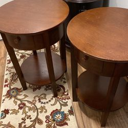 2 Used Bedside Tables Pottery Barn Made Of Wood for Sale in Kent,  WA