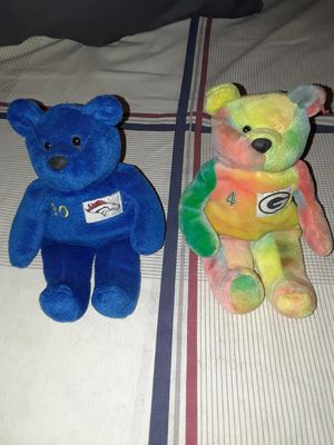 Ty Beanie Babies. Green Bay Packers #4 Brett Farve & Denver Broncos #10 for Sale in Calion, AR