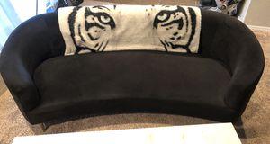 Black Velvet Curved Couch for Sale in Broken Arrow, OK