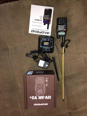 CB, ham radio, police scanner brand new, never used with long range antenna. Baofeng UV-5r- v2+ All accessories for Sale in Phoenix, AZ