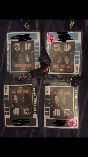 Comic con passes for Saturday 7/20/19 and Sunday 7/21/19 for Sale in Jurupa Valley, CA