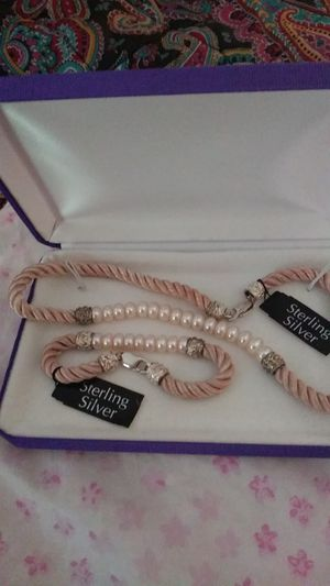 Sterling silver necklace and bracelet set for Sale in Goodlettsville, TN