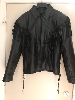Woman sz16 -1x Real Leather Fringe Motorcycle Jacket for Sale in Downers Grove, IL