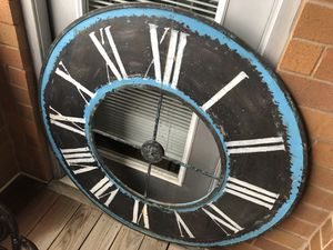 Antique Steel Clock Face for Sale in Chicago, IL