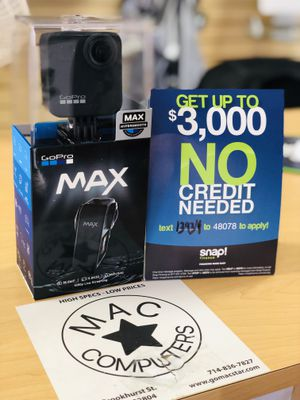 No Credit Needed! GoPro Max Camera $39 down take it home today! for Sale in Garden Grove, CA