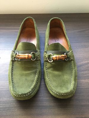 GUCCI green leather shoes size 9 for Sale in Miami, FL
