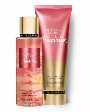 Victoria's Secret Temptation Fragrance Mist, 8.4 fl oz & Lotion, 8 fl oz for Sale in Whittier, CA