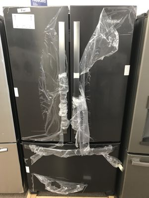 Any percent off on all refrigerators black stainless steel Whirlpool refrigerator for Sale in Houston, TX