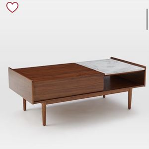 West Elm Mid-Century Pop-up Storage Coffee Table for Sale in Costa Mesa, CA