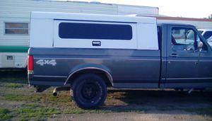White Metal Truck Canopy/ Camper Shell for Sale in Spokane Valley, WA