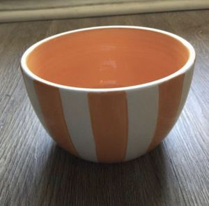 Orange and white bowl for Sale in Morrisville, NC