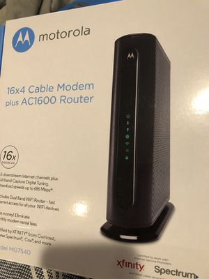 Motorola MG7540 Modem Router Combo AC1900 for Sale in Orient, OH