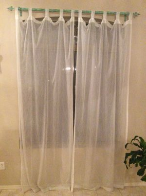 Curtains with rod for Sale in Peoria, AZ
