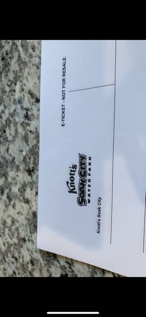Soak city tickets $35 for Sale in Commerce, CA