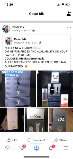 100% authentic fragrances. Family business. Ask for prices on any brand fragrance. Men or women for Sale in Scotch Plains, NJ