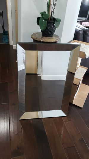 Rectangular Beveled Wall Mirror Silver for Sale in Pacific, WA