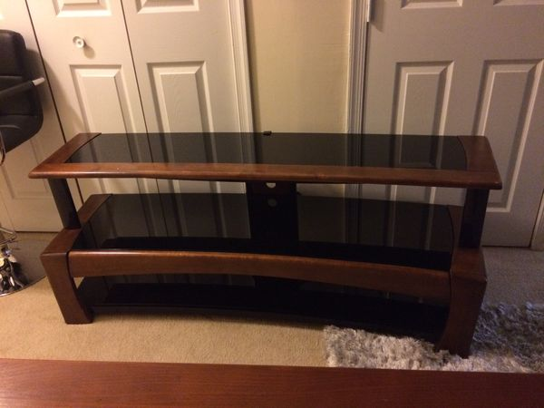 TV stand with class with glass top