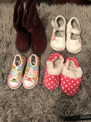 Girls boots, shoes and slippers (Sizes 6, 7, 8) for Sale in Fontana, CA