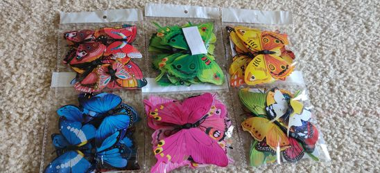 3D Colorful Butterfly Wall Stickers DIY Art Decor Crafts for Party Cosplay Wedding Offices Bedroom Living Room Magnets and Glue Sticker Set for Sale in Gaithersburg,  MD
