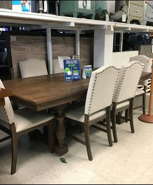 Free Delivery 🐋  BEST Deal 🐋 [SPECIAL] Regent Grayish Brown Dining Set 177 for Sale in Houston, TX