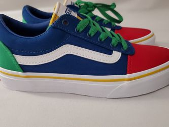 Vans Off The Wall Yacht Club Old Skool Skate Shoes Kids Size 2Y Red Blue Green for Sale in Fontana,  CA