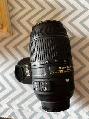 Nikon AF-S nikkor 55-300 mm DX telephoto lens with VR for Sale in Chandler, AZ