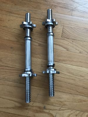 pair Spinlock dumbbell uses standard weight plates for Sale in Queens, NY
