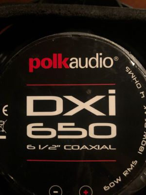 Polk Audio DXi 650 6 1/2 Coaxial speakers for Sale in Stockton, CA