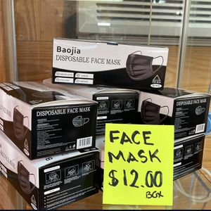Face Mask (50 Pack ) Black Color ⬛️😷 for Sale in San Antonio, TX