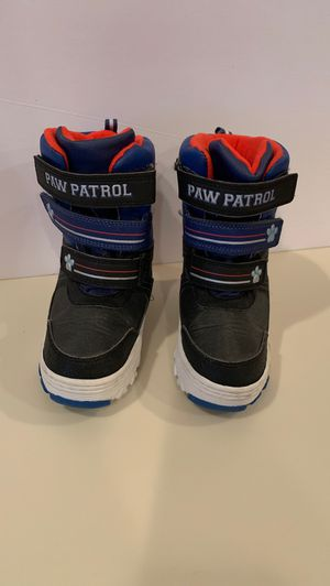 Kids Paw patrol snow boots for Sale in Nutley, NJ