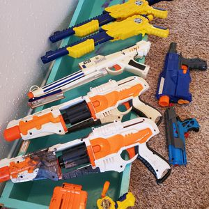 Nine Used Nerf guns. for Sale in Katy, TX