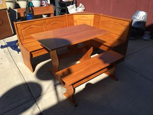5 piece wood patio furniture for Sale in Chicago, IL