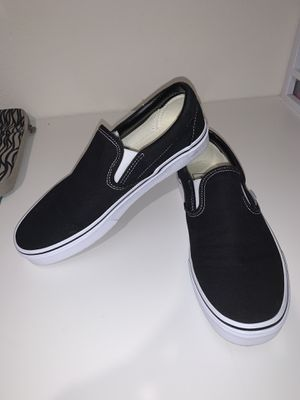 Black/White Slip On Vans for Sale in Venus, TX
