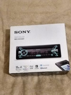 SONY MEX N5100BT IN PASS CD RECIVER WITH IPOD,CD, USB,BLUETOOTH, SOUND PALM DINAMIC COLOR ILUMINATED 55WX4 for Sale in Santa Ana, CA