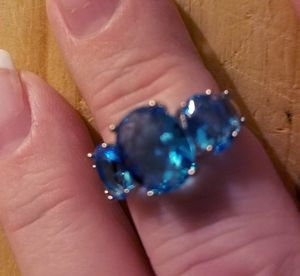 Sterling Silver Blue Topaz Ring for Sale in Knoxville, TN
