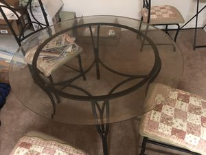 Used like new dinning table with 4 chairs for Sale in Reston, VA