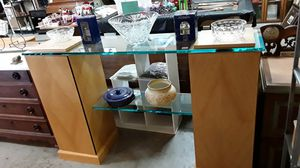 Beautiful wood and glass entertainment center / TV stand for Sale in San Diego, CA