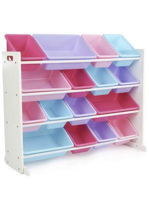 Spacious Wood Toy Storage Organizer for Kids. Kids Storage. Girls Boys. for Sale in Ontario, CA