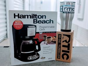 Clearance - RTIC 30oz tumbler and Hamilton Beach coffee maker for Sale in Houston, TX
