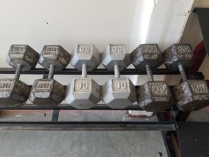 Dumbbell Set 540lbs 80/90/100 pairs - HUGE SET - SAVE BIG $ - GREAT Dumbbells for Sale in Mansfield, TX