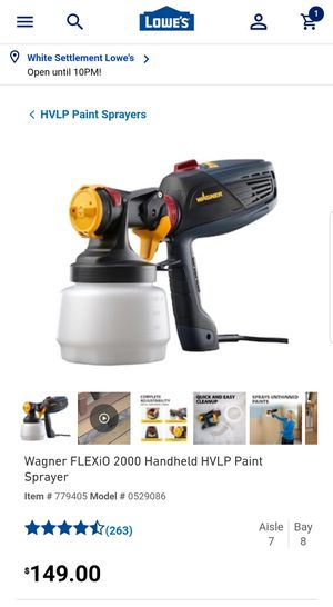 Wagner Paint Sprayer Indoor/Outdoor for Sale in Fort Worth, TX