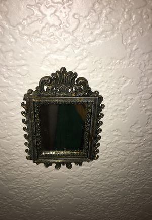 Small ornate antique mirror for Sale in Fresno, CA
