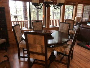 Dining table and 8 chairs for Sale in Overgaard, AZ