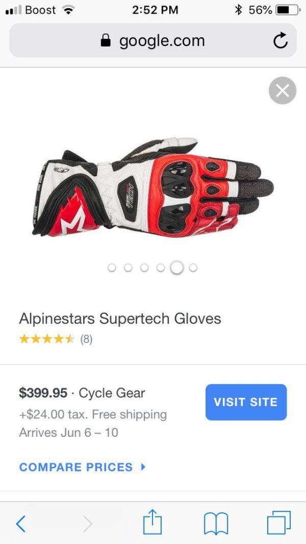 NEW GP Pro Racing gloves