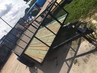 Utility trailer for sale 6.4x10x2 ft side mesh all brand new for Sale in Lakeland,  FL
