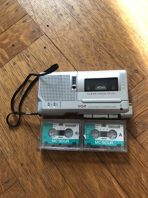 SONY V-O-R MICROCASSETTE -CORDER M65-OV CLEAR VOICE PLUS for Sale in CAPE ELIZ, ME