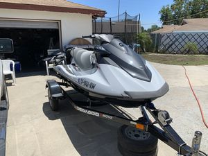 PACKAGE DEAL YAMAHA 2014 FOUR STRKE 3 SEATS 2014 TRAILER for Sale in Riverside, CA
