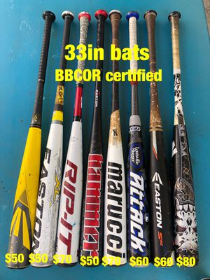 Baseball bats Easton marucci demarini Nike tpx equipment gloves for Sale in Culver City, CA